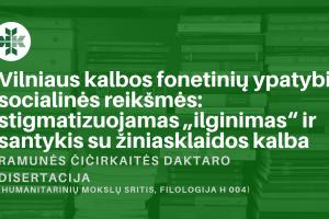 Ramunes Cicirkaites disertacija