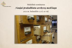 Naujai prakalbinta archyvų medžiaga (1)