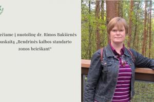 LKI naujiena Rima Bakšienė